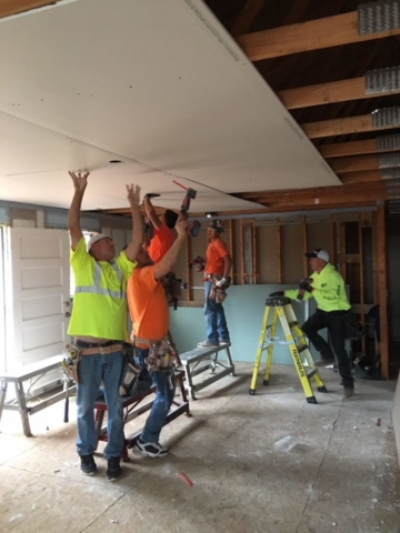 WPI Habitat for Humanity Drywall Ceilings