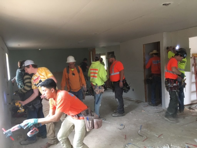 WPI Habitat for Humanity Hanging Drywall 6