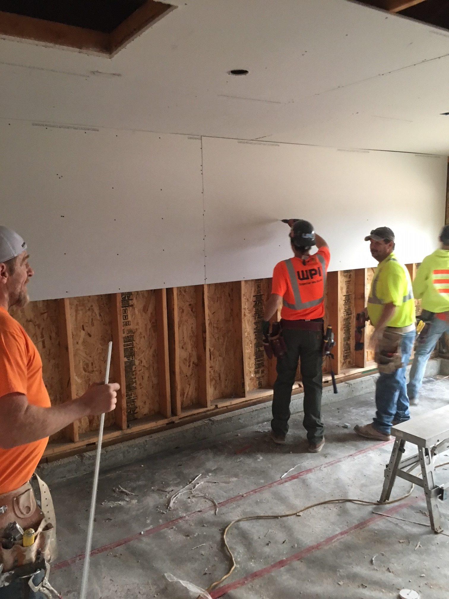 WPI Habitat for Humanity Hanging Drywall 2