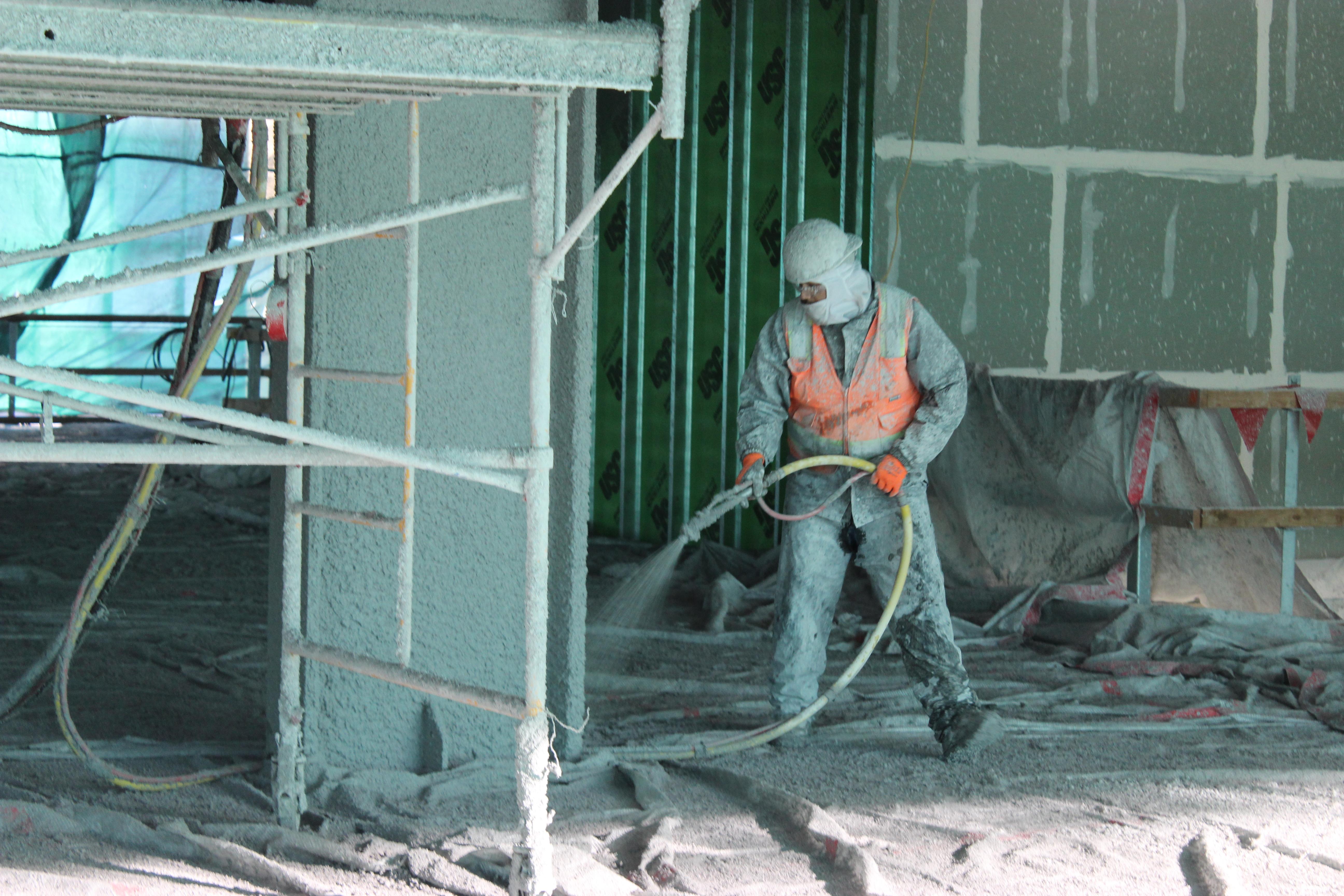 Spray Applied Fireproofing - OHSU CHH South - Portland, Oregon